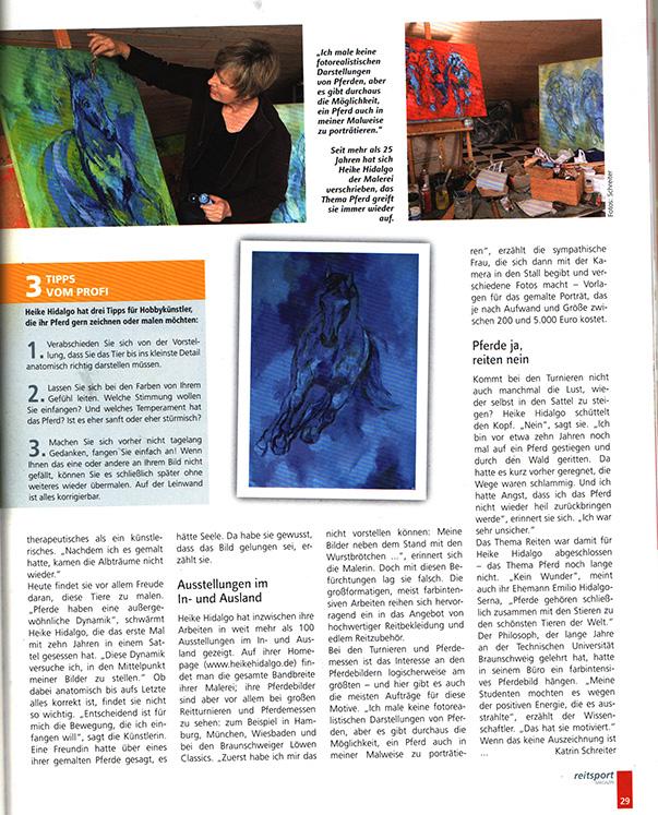 Artikel im Reitsportmagazin