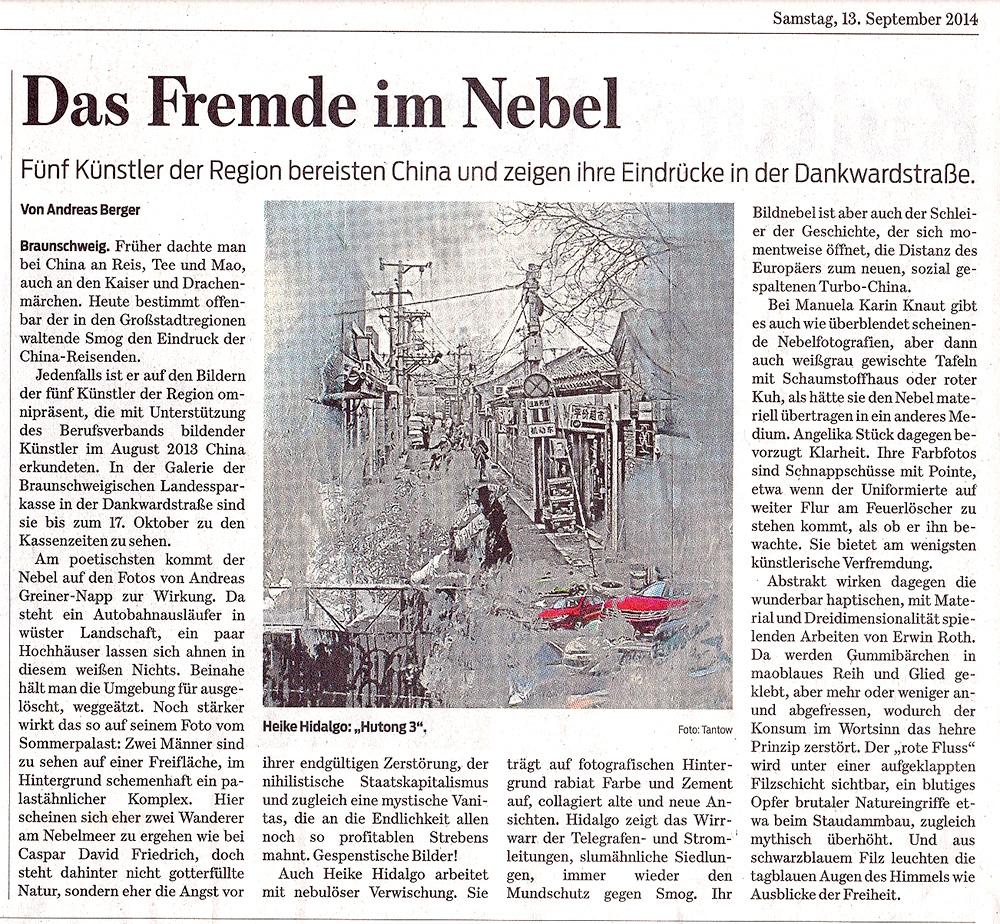 Zeitungsartikel Sept. 2014